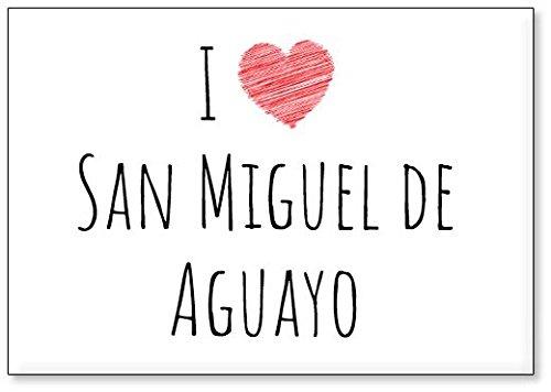 Mundus Souvenirs - Amo San Miguel de Aguayo, Imán para Nevera (diseño 3)