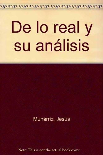 De lo real y su análisis (Poesía Hiperión) por Jesús Munárriz