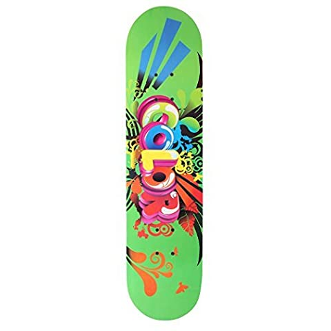 Cool Maple Multi-Color Skateboard Four Wheels Smooth Surface【UK Stock】 (Green, One size)