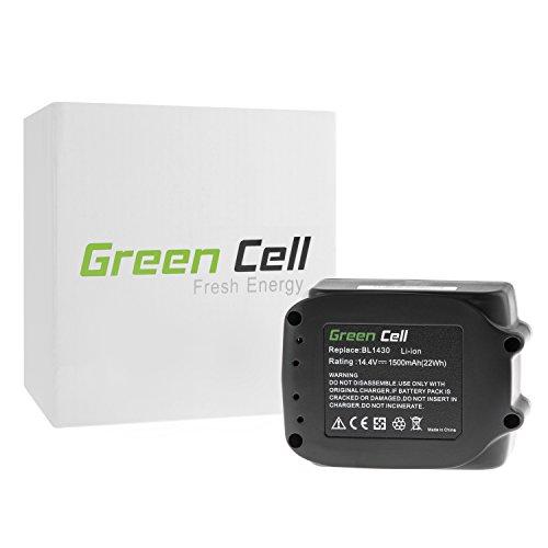 Preisvergleich Produktbild Green Cell® Elektrowerkzeug Akku für Makita DTD137 (Samsung Li-Ion Zellen 1500 mAh 14.4V)