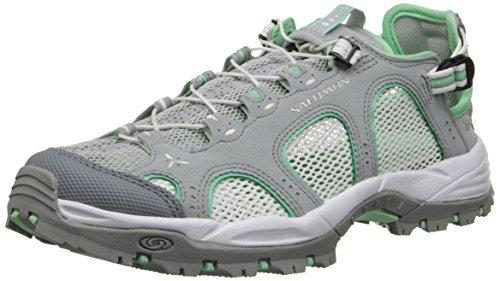 Salomon Techamphibian 3, Chaussures de Marche Nordique Femme, Light Onix White Lucite Green Grau (Light Onix/White/Lucite Green)
