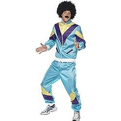 Smiffys, Back to the 80's, Déguisement Années 80, Veste et Pantalon- Homme-Multicolore-L
