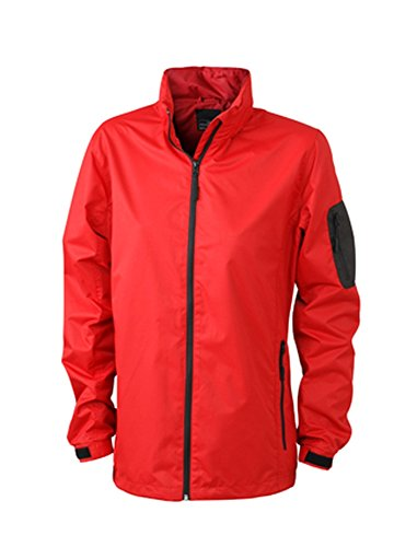 James & Nicholson Ladies' Windbreaker Red/Black