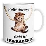Die besten Cafe Vater Tassen - TRIOSK Tasse mit Katzenmotiv und lustiger Spruch Katze Bewertungen