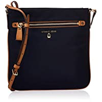 Michael Kors Nylon Kelsey Large Crossbody Bag for Women- Blue
