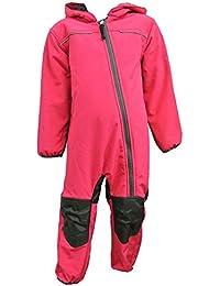 Outburst - Mädchen Softshell Overall Schneeanzug, Pink - 3712214