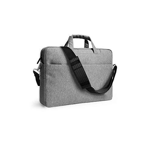 Laptoptasche for Frauen, Schlanke, Leichte Business-Aktentasche, Tragetasche for Tragbaren Computer Mit Griff (Color : Gray, Size : 14inch) -