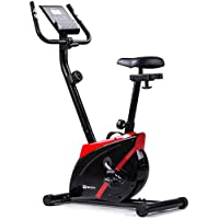 Preisvergleich für Hop-Sport Heimtrainer ONYX Fitnessgerät mit Pulssensoren und Computer (Rot)