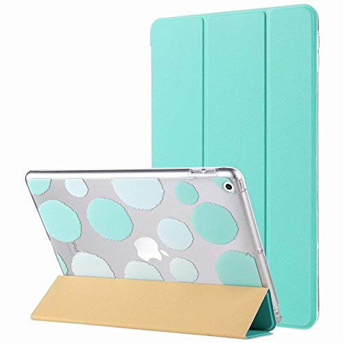 GZ Ipad 9.7 Zoll 2018 / Hülle, Ultra Slim Magnetic Auto Wake & Sleep-Funktion Smart Cover Trifold-Standbox Mit Designer-Hartschale Ipad 9.7 Zoll 2018 / Modell,Grün,1