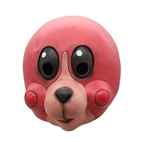 Idollcg Junge Kostüm Accessoires Requisiten Latex Kopf Maske Lustige Halloween Maske Party Dekoration (Color : 2, Size : One Size) (Lustige Halloween College Kostüm)