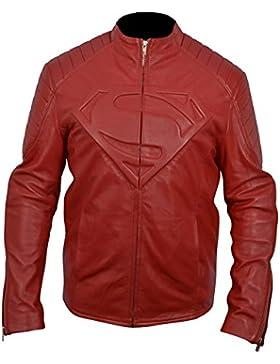 classyak moda Hombre de Super alta calidad real con una chaqueta de cuero
