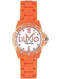 Liu-Jo Montre Femme en Acier et Plastique Orange, forme Rond, ligne Fluo, le poids 35 grammes