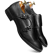 one8 Select Men's Black Leather Shoe
