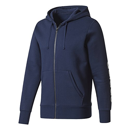 adidas Herren Essentials Full Zip Hoody, Collegiate Navy/White, S