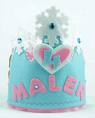 Corona Cumpleaños fieltro Frozen