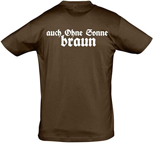 Herren T-Shirt auch ohne Sonne braun