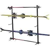 Skihalter Skiträger Skistöcke Ski Aufbewahrung Wandhalter Halter für 5 Paar Gerätehalter Wandmontage