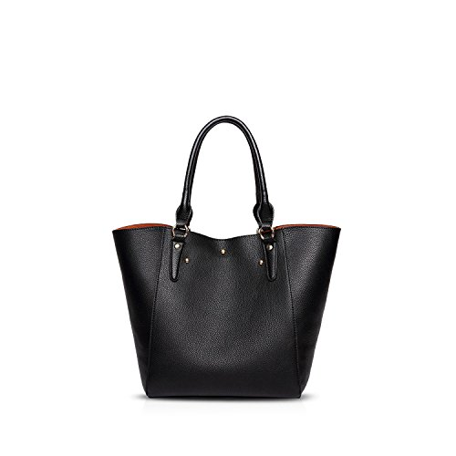 NICOLE&DORIS Elegant Stilvoll Damen Handtaschen Tote Umhängetasche Crossbody Bag Schultertaschen Henkeltaschen 2PCS Groß Tasche PU Rot Schwarz