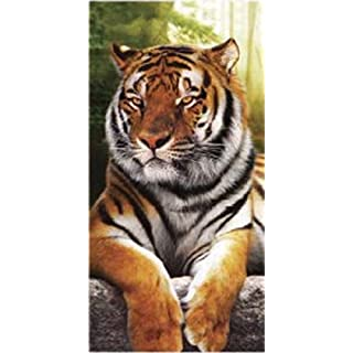 Strandtuch Tiger braun 90x 170