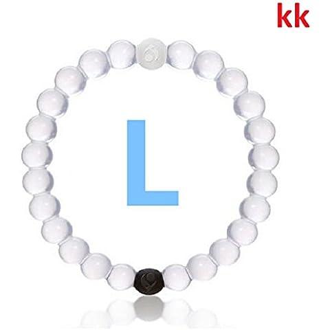 100% Genuine braccialetto bracciale, taglia L, Bianco, 20cm. La rappresentazione del ciclo di vita.