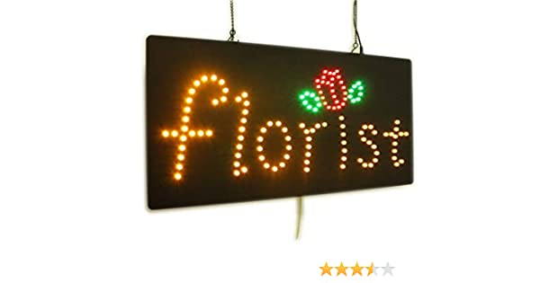 Business Florist Sign LED Neon Open Window Shop Store Display Grand Opening Gift TOPKING Signage