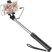 Palo Selfie, JETech® Selfie Stick Extensible Control de Cable Inalámbrico (No Batería No Bluetooth) Autorretrato Monopod Polo con Titular de Montaje para Apple iPhone 6/6 Plus/5/4, iPod, Samsung Galaxy S6/S5/S4/S3, Note 4/3/2 y Más