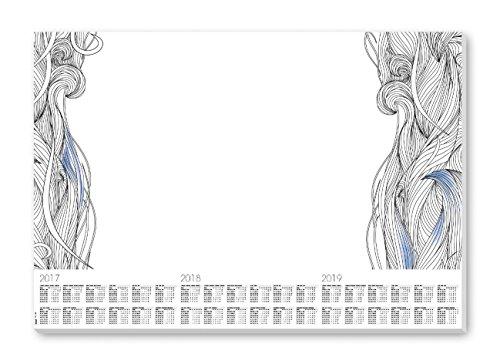 Sigel HO480 Papier-Schreibunterlage mit 3-Jahres-Kalender, 59,5 x 41 cm, 30 Blatt - weiteres Modell
