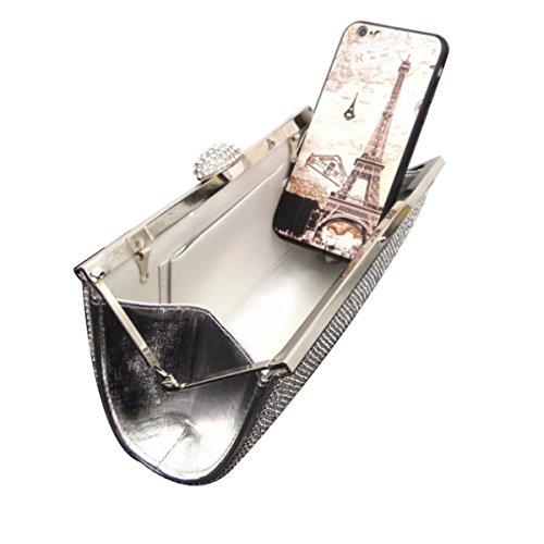 Frauen-Diamant-Abend-Beutel-Diamant-Mode Partei Handtasche Silver
