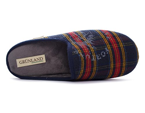 GRUNLAND , Herren Hausschuhe Blu