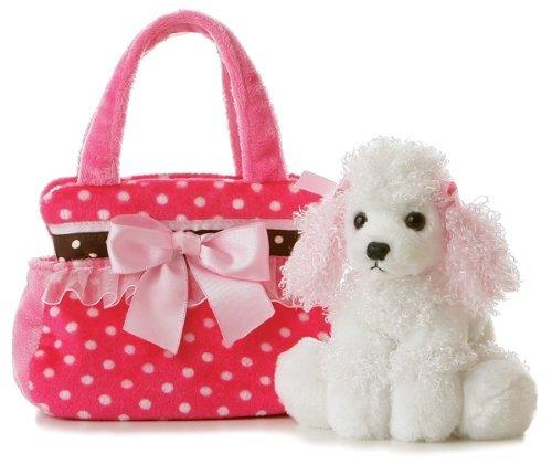 Aurora Plush Fancy Pals Pet Carrier Fancy Pink Polka Dot by AURORA -