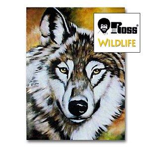 Bob Ross Malprojekt Wildtiere - Wolf, engl.