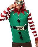 neu Herren Elfen Santa 3D Weihnachts Pullover KostüM, Größe s M L XL - Buddy, S