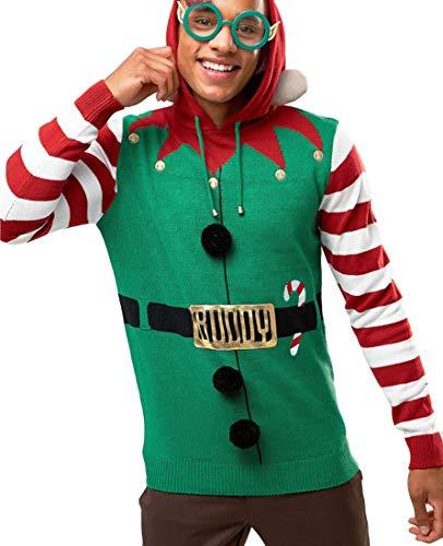 neu Herren Elfen Santa 3D Weihnachts Pullover KostüM, Größe s M L XL - Kumpel, ()