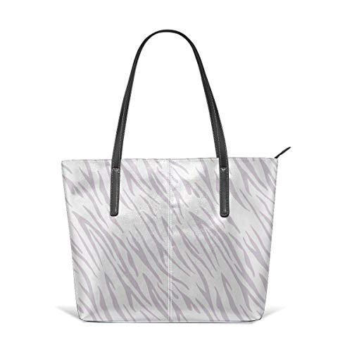 XGBags Animal Tiger Pattern White Sprite Print Men Women Leather Tote Bags Satchel Top Handle Bags Shoulder Leisure Handbags For Ladies Shopping Bag Office Briefcase Tote Umhängetaschen -