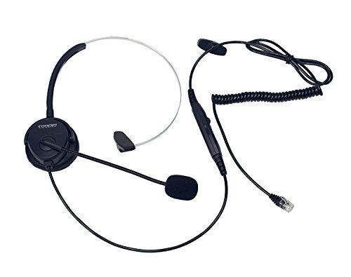 Coodio Telefono Fisso Cuffia [interruttore mute] [Controllo del Volume] RJ9