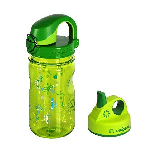 Nalgene 'Everyday OTF Kids' 0,375 L, grün Autos, + Grip-n-Gulp-Deckel grün