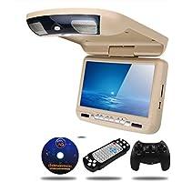 "9""monitor de coche techo techo de montaje Flip Down LED digital de la pantalla del reproductor de DVD USB SD MP5 IR FM transmisor altavoz juego,Beige"
