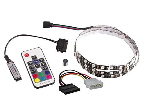 Lilware 50CM/1.64ft RGB-Farbwechsel LED Streifen für Tower-Computergehäuse. Multifunktionale 17 Tasten Fernbedienung inklusive