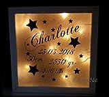 beleuchteter Bilderrahmen mit Daten Kinderzimmerbeleuchtung Kindernachtlicht LED Leuchtrahmen Geschenkidee zu Weihnachten Weihnachtsgeschenk