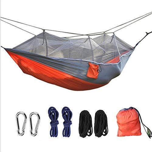 AFFC Outdoor-Camping-Hängematten umfassen Moskitonetze - tragbare Indoor-Outdoor-Rucksäcke für Überleben und Reisen, Bergsteigen, Höfe, Strände und Touren,A