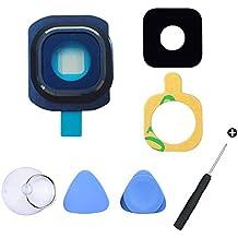 Cemobile Recambio Para Cubre Lente y Bisel de la Cámara Trasera Con Adhesivo + Kit de herramientas de reparación Para Samsung Galaxy S6 G920A G920F G920F G920 G920 G920S G920T G9200 G9208 (todos los modelos) Azul Oscuro