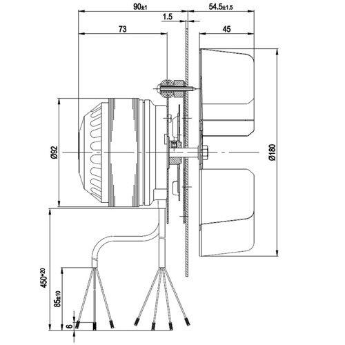 Zoom IMG-1 ventola motore estrattore fumi per