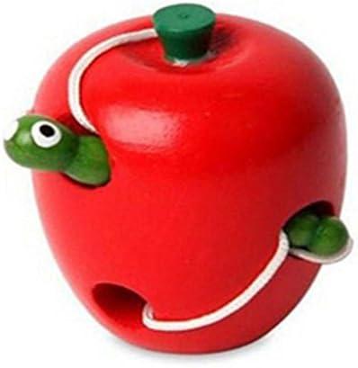 Dexinghaoye Intelligence Fruits Forme laçage Jeu Montessori puzzle en bois Kid jouet d'enfilage Apple b | De Grandes Variétés
