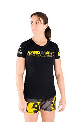 Titan Box Wear Go Franny Camiseta, Mujer, Negro/Amarillo / Verde, L