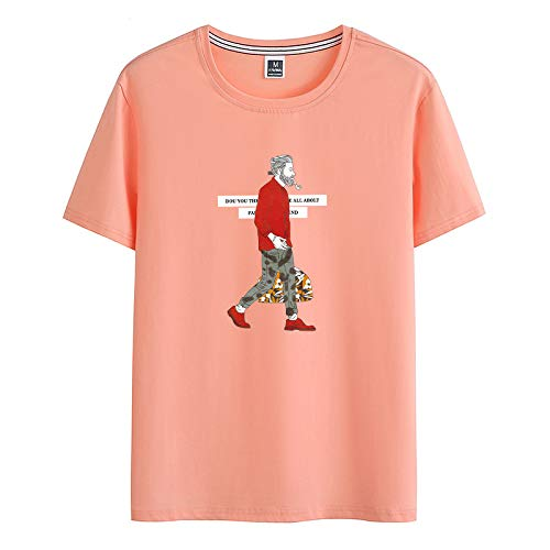 Herren T-Shirt aus feiner Baumwolle mit elastischem Rundhalsausschnitt und kurzen Ärmeln -