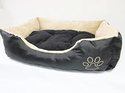 Dog Bed faux fur in Black and tan - XL