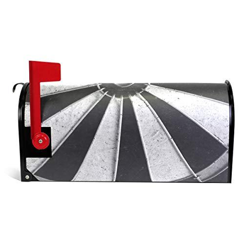 Bennigiry Game Darts Board Wheel Magnetic Mailbox Cover Oversized 63,5 x 20,8 Zoll