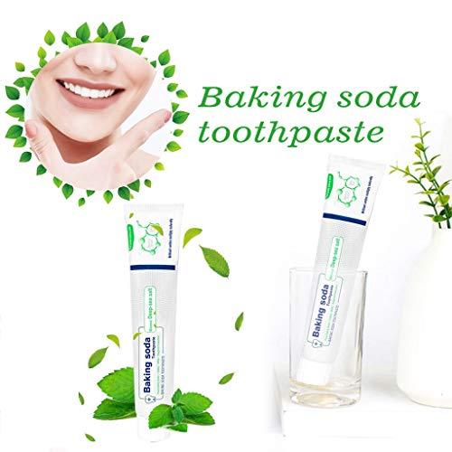 bloatboy 2 PC Whitening Zahnpasta, Stärkung Fleckenentfernung Backpulver Zahnpasta, frischer Atem Mundpflege Gegen Zahnfleischbluten Zahnpasta (Grün) -