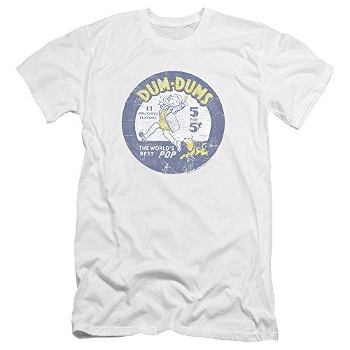 - Dum Dums - - Männer Pop Parade Premium Slim Fit T-Shirt, XX-Large, White