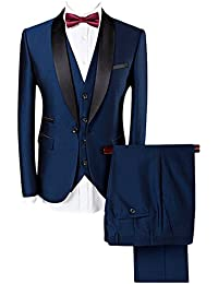 Costume homme Tuxedo Diner trois-pièces d'affaire mariage business Suit un bouton à la mode slim fit veste +gilet +pantalon